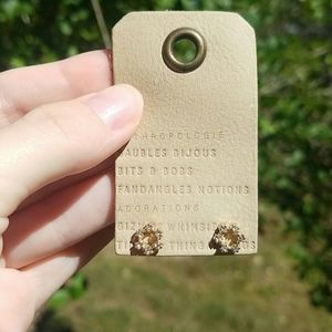 Anthropologie Jewelry - Anthropologie circle post earrings